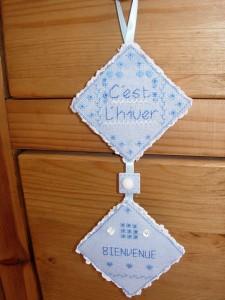 Décoration de porte ou murale 'C'est l'hiver' - 'Bienvenue' dans Broderie dscn19441-225x300